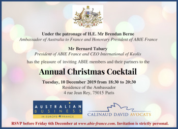 ABIE France Christmas Cocktail, 10 December 2019